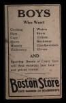 1917 Boston Store #84  William James  Back Thumbnail