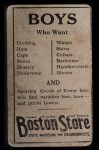 1917 Boston Store #144  Dick Rudolph  Back Thumbnail