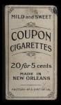 1914 Coupon T213 #173 BOS Sherry Magee  Back Thumbnail