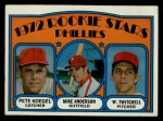 1972 Topps #14   -  Mike Anderson / Pete Koegel / Wayne Twitchell Phillies Rookies   Front Thumbnail