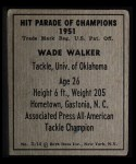 1951 Berk Ross #14 C Wade Walker  Back Thumbnail