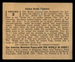 1939 Gum Inc. World In Arms #3 A  Italian Breda Fighters Back Thumbnail