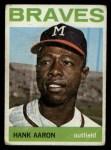 1964 Topps #300  Hank Aaron  Front Thumbnail