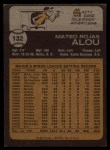 1973 Topps #132  Matty Alou  Back Thumbnail