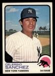 1973 Topps #103  Celerino Sanchez  Front Thumbnail