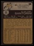 1973 Topps #24  Al Santorini  Back Thumbnail