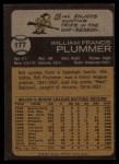 1973 Topps #177  Bill Plummer  Back Thumbnail