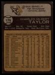 1973 Topps #176  Chuck Taylor  Back Thumbnail