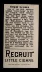 1912 T207 #103  Ed Lennox    Back Thumbnail