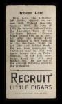 1912 T207 PHL Bris Lord    Back Thumbnail
