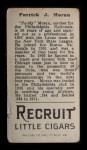 1912 T207  Pat Moran    Back Thumbnail