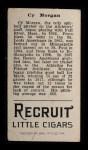 1912 T207 #133  Cy Morgan    Back Thumbnail
