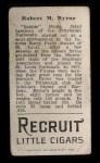 1912 T207  Bobby Byrne  Back Thumbnail