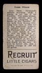 1912 T207  Ivy Olson    Back Thumbnail