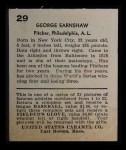 1932 R328 U.S. Caramel #29  George Earnshaw   Back Thumbnail