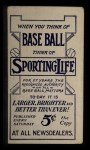 1910 M116 Sporting Life #193  Tom Needham  Back Thumbnail