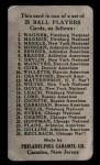 1909 E95 Philadelphia Caramel #10  Johnny Evers  Back Thumbnail