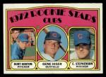 1972 Topps #61   -  Burt Hooton / Gene Hiser / Earl Stephenson Cubs Rookies   Front Thumbnail