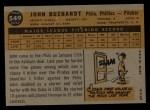 1960 Topps #549  John Buzhardt  Back Thumbnail