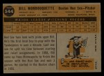 1960 Topps #544  Bill Monbouquette  Back Thumbnail