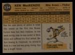 1960 Topps #534  Ken MacKenzie  Back Thumbnail