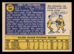 1970 Topps #389 COR Jim Shellenback  Back Thumbnail