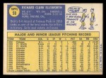 1970 Topps #59  Dick Ellsworth  Back Thumbnail