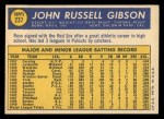 1970 Topps #237  Russ Gibson  Back Thumbnail