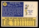 1970 Topps #491  Graig Nettles  Back Thumbnail