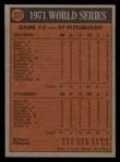 1972 Topps #227   -  Nelson Briles 1971 World Series - Game #5 Back Thumbnail