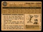1960 Topps #433  Irv Noren  Back Thumbnail
