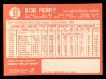 1964 Topps #48  Bob Perry  Back Thumbnail