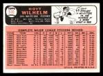 1966 Topps #510  Hoyt Wilhelm  Back Thumbnail