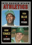1970 Topps #21   -  Gene Tenace / Vida Blue Athletics Rookies Front Thumbnail