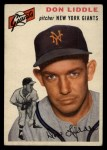 1954 Topps #225  Don Liddle  Front Thumbnail