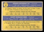 1970 Topps #56   -  Joe Lis / Scott Reid Phillies Rookies Back Thumbnail