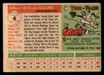 1955 Topps #4  Al Kaline  Back Thumbnail