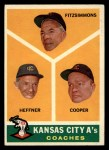 1960 Topps #462   -  Fred Fitzsimmons / Don Heffner / Walker Cooper A's Coaches Front Thumbnail