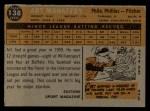 1960 Topps #138   -  Art Mahaffey Rookie Star Back Thumbnail