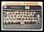1973 Topps #26   Pirates Team Front Thumbnail