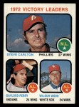 1973 Topps #66   -  Steve Carlton / Gaylord Perry / Wilbur Wood Victory Leaders Front Thumbnail