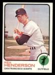 1973 Topps #101  Ken Henderson  Front Thumbnail