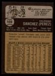 1973 Topps #103  Celerino Sanchez  Back Thumbnail