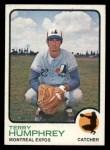 1973 Topps #106  Terry Humphrey  Front Thumbnail