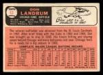 1966 Topps #43 PAR Don Landrum  Back Thumbnail