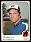 1973 Topps #124  Jim Hardin  Front Thumbnail
