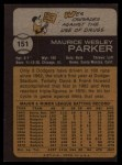 1973 Topps #151  Wes Parker  Back Thumbnail