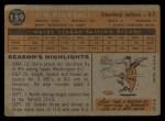 1960 Topps #159  Jimmy Piersall  Back Thumbnail