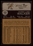 1973 Topps #187  Luke Walker  Back Thumbnail