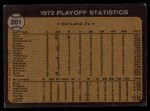 1973 Topps #201   -  George Hendrick / Bill Freehan 1972 AL Playoffs - Hendrick Scores Winning Run Back Thumbnail